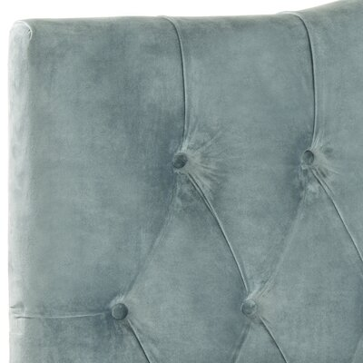 Ellecourt Upholstered Panel Headboard Size: Twin, Color: Wedgewood Blue, Upholstery: Cotton
