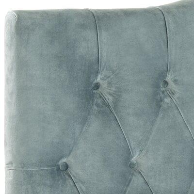 Ellecourt Upholstered Panel Headboard Size: Full, Color: Wedgewood Blue, Upholstery: Cotton