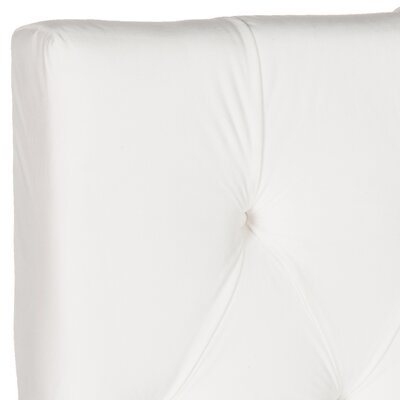 Ellecourt Upholstered Panel Headboard Size: Queen, Color: White, Upholstery: Polyester