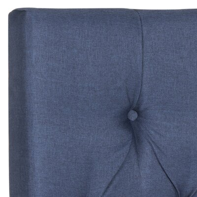Ellecourt Upholstered Panel Headboard Size: King, Color: Navy, Upholstery: Polyester