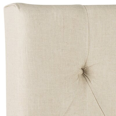 Ellecourt Upholstered Panel Headboard Size: King, Color: Hemp, Upholstery: Linen