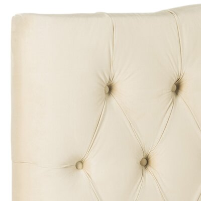 Ellecourt Upholstered Panel Headboard Size: King, Color: Buckwheat, Upholstery: Polyester