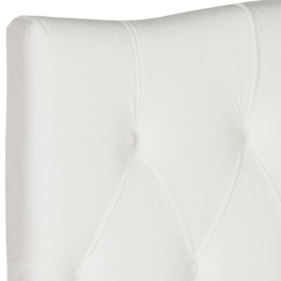 Ellecourt Upholstered Panel Headboard Size: Twin, Color: Off-White, Upholstery: Polyester