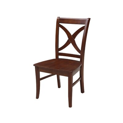 Beuvron Solid Wood Dining Chair Color: Espresso