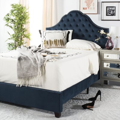 Boniface Upholstered Bed Size: Queen, Color: Navy