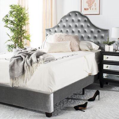 Boniface Upholstered Bed Size: Queen, Color: Gray