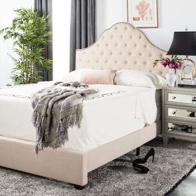 Boniface Upholstered Bed Size: Queen, Color: Beige