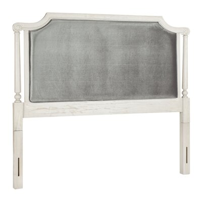 Tadoussac Upholstered Panel Headboard Size: Queen, Color: Gray