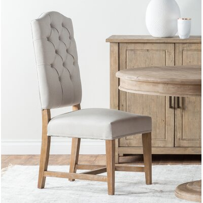 Nymphea Upholstered Dining Chair (Set of 2) Color: Ivory