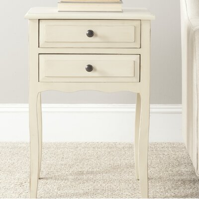 Philipston 2 Drawer Nightstand Color: Antique White