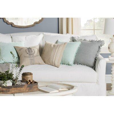 Matthias Vintage Grainsack Linen Throw Pillow Size: 16 H x 16 W x 6 D