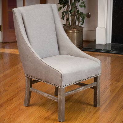 Busch Upholstered Dining Chair Color: Silver