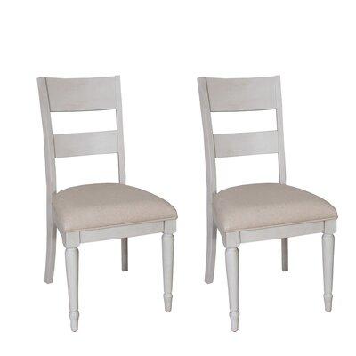 Saguenay Slat Back Side Chair (Set of 2) Finish: Dove Gray
