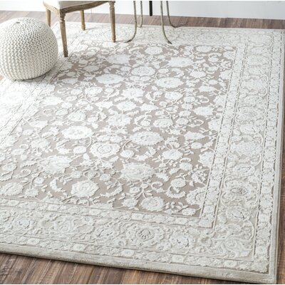 Hilaire Cream Area Rug Rug Size: Rectangle 4 x 6