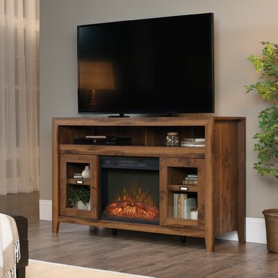 Cyril Entertainment Credenza TV Stand With Electric Fireplace