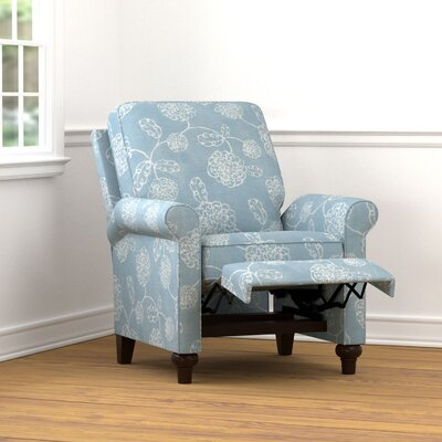 Gilland Recliner Upholstery: Blue Floral