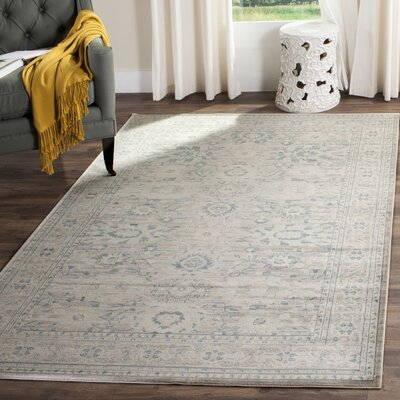Bertille Gray/Blue Area Rug Rug Size: Rectangle 67 x 92