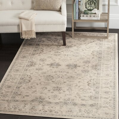 Malakoff Cream Area Rug Rug Size: Rectangle 51 x 77