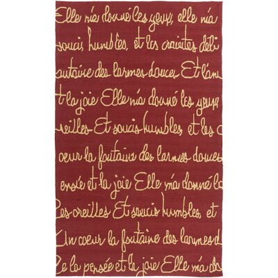 Caille Cherry/Gold Indoor/Outdoor Area Rug Rug Size: Rectangle 9 x 12