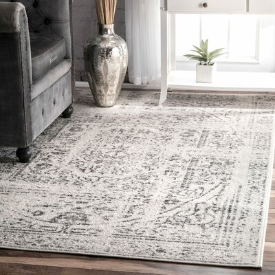 Olvera Gray Area Rug Rug Size: Rectangle 67 x 9