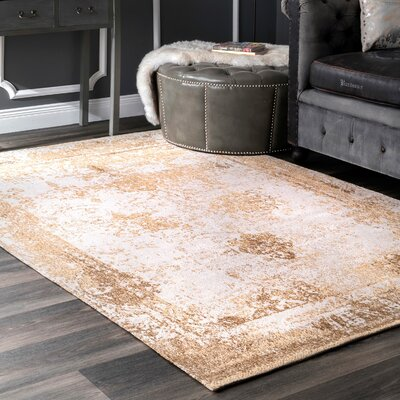 Chartres Hand-Woven Cream Area Rug Rug Size: Rectangle 2 x 3