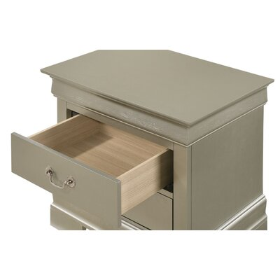 Mayssa 2 Drawer Nightstand Color: Silver Champagne
