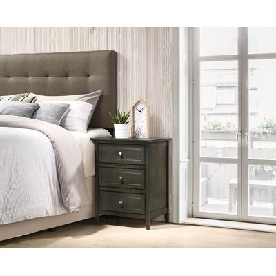 Ovellette 3 Drawer Nightstand Color: Smoke Gray