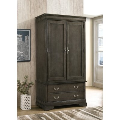 Corbeil Armoire Color: Smoke Gray