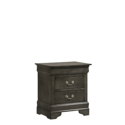 Mayssa 2 Drawer Nightstand Color: Smoke Gray