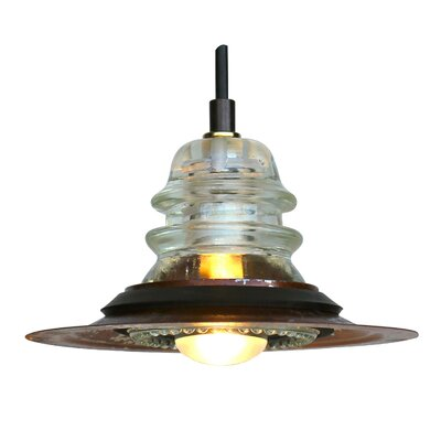 Insulator Light Pendant with 7 Metal Hood