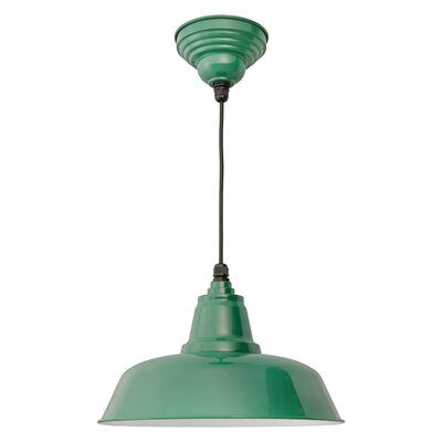 Goodyear 1-Light Bowl Pendant Finish: Vintage Green, Size: 13.4 H x 15.5 W x 15.5 D