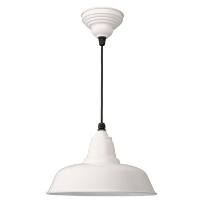 Goodyear 1-Light Bowl Pendant Finish: White, Size: 13.4 H x 15.5 W x 15.5 D