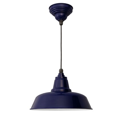 Goodyear 1-Light Bowl Pendant Finish: Cobalt Blue, Size: 13.4 H x 15.5 W x 15.5 D