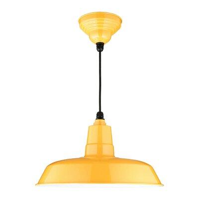 Oldage 1-Light Bowl Pendant Finish: Yellow, Size: 13.4 H x 15.8 W x 15.8 D