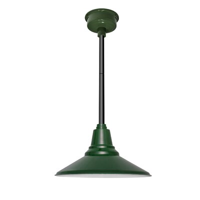 Calla 1-Light LED Mini Pendant Finish: Vintage Green, Size: 48 H x 14 W x 14 D