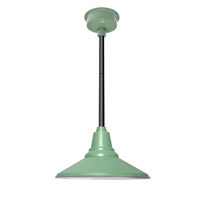 Calla 1-Light LED Mini Pendant Finish: Jade, Size: 48 H x 14 W x 14 D