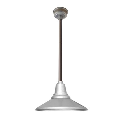 Calla 1-Light LED Mini Pendant Finish: White, Size: 48 H x 18.25 W x 18.25 D
