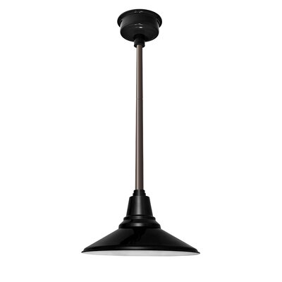 Calla 1-Light LED Mini Pendant Finish: Black, Size: 48 H x 14.25 W x 14.25 D