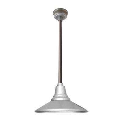 Calla 1-Light LED Mini Pendant Finish: Galvanized Silver, Size: 48 H x 14.25 W x 14.25 D