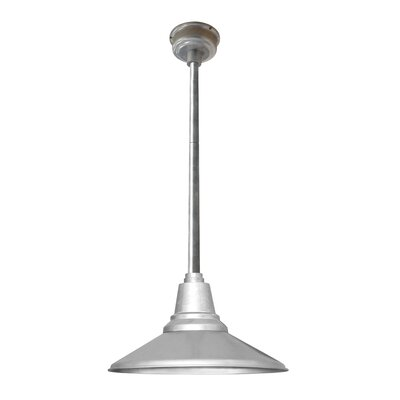 Calla 1-Light LED Mini Pendant Finish: Galvanized Silver, Size: 48 H x 16 W x 16 D