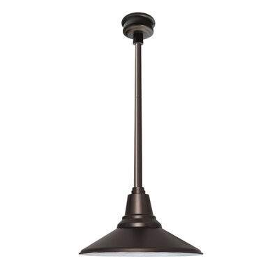 Calla 1-Light LED Mini Pendant Finish: Mahogany Bronze, Size: 48 H x 14.25 W x 14.25 D