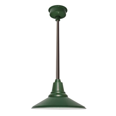 Calla 1-Light LED Mini Pendant Size: 48 H x 12.25 W x 12.25 D, Finish: Vintage Green