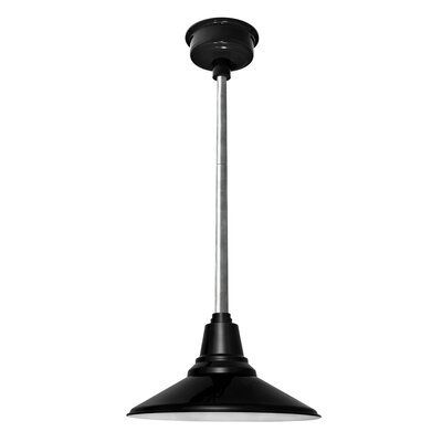Calla 1-Light LED Mini Pendant Finish: Black, Size: 48 H x 14 W x 14 D