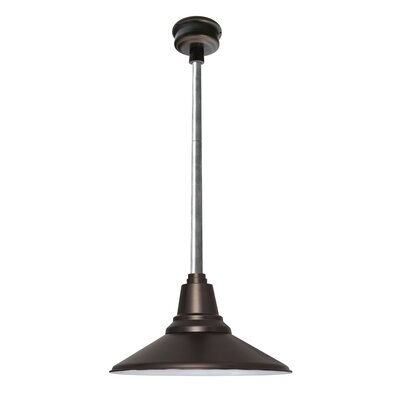 Calla 1-Light LED Mini Pendant Size: 48 H x 16 W x 16 D, Finish: Mahogany Bronze
