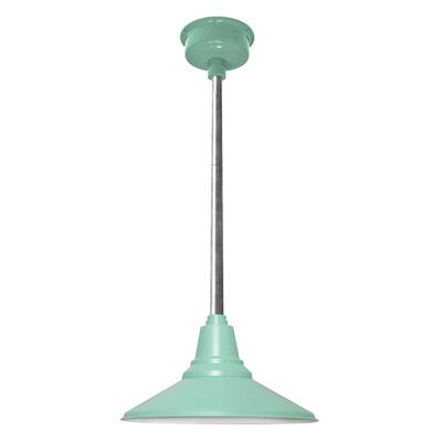 Calla 1-Light LED Mini Pendant Finish: Jade, Size: 48 H x 18 W x 18 D