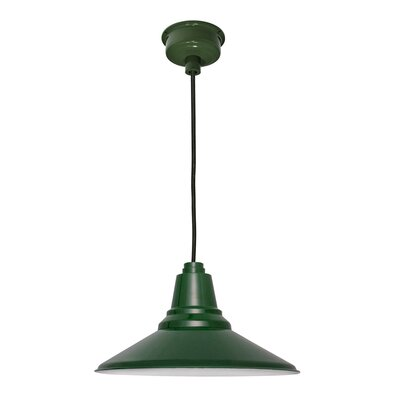 Calla 1-Light LED Mini Pendant Finish: Vintage Green, Size: 48 H x 14.25 W x 14.25 D