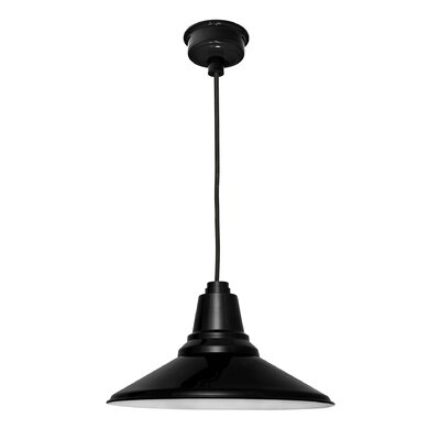 Calla 1-Light LED Mini Pendant Finish: Black, Size: 48 H x 16.25 W x 16.25 D