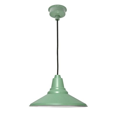 Calla 1-Light LED Mini Pendant Finish: Jade, Size: 48 H x 14.25 W x 14.25 D