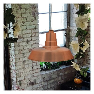 Oldage LED Inverted Pendant Size: 72 H x 12 W x 12 D, Finish: Solid Copper