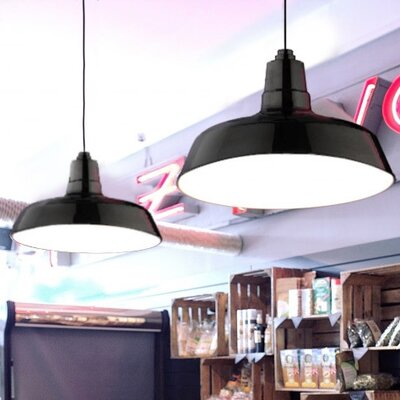 Oldage LED Inverted Pendant Finish: Black, Size: 72 H x 16 W x 16 D